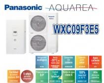 Panasonic Aquarea T-CAP WH-UX09FE5  WH-SXC09F3E5 hőszivattyú 1 fázisú hűtő-fűtő 9KW