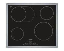 Bosch PIC645F17E beépíthető 4 zónás indukciós üvegkerámia főzőlap fekete