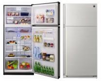 Sharp SJSC700VSL NoFrost A+ 433/150L ezüst felülfagyasztós hűtőszekrény